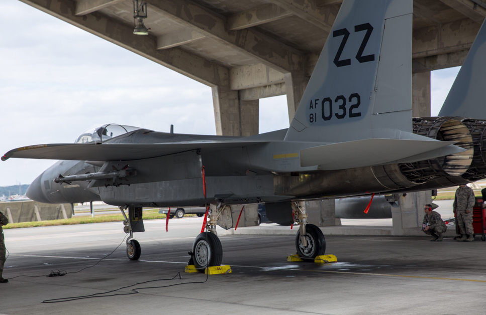For the F-15 enterprise at Kadena Air Base in Japan, it's an expertise problem