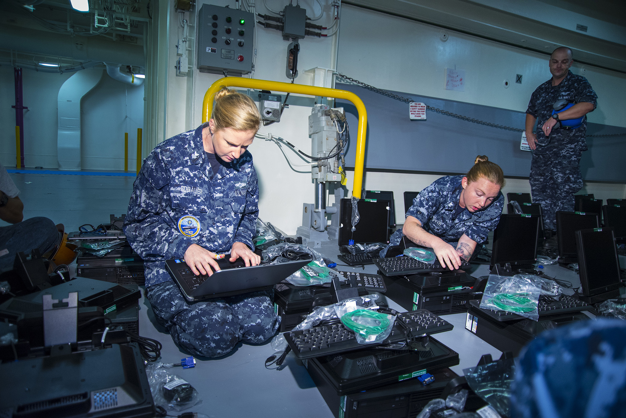 Naval information systems technicians could feel the impact of adjustments to the Next Generation Enterprise Network Re-compete (NGEN-R), a broad effort to update and enhance Navy and Marine Corps information technology services. (Mass Communication Specialist 1st Class Joshua J. Wahl/U.S. Navy)