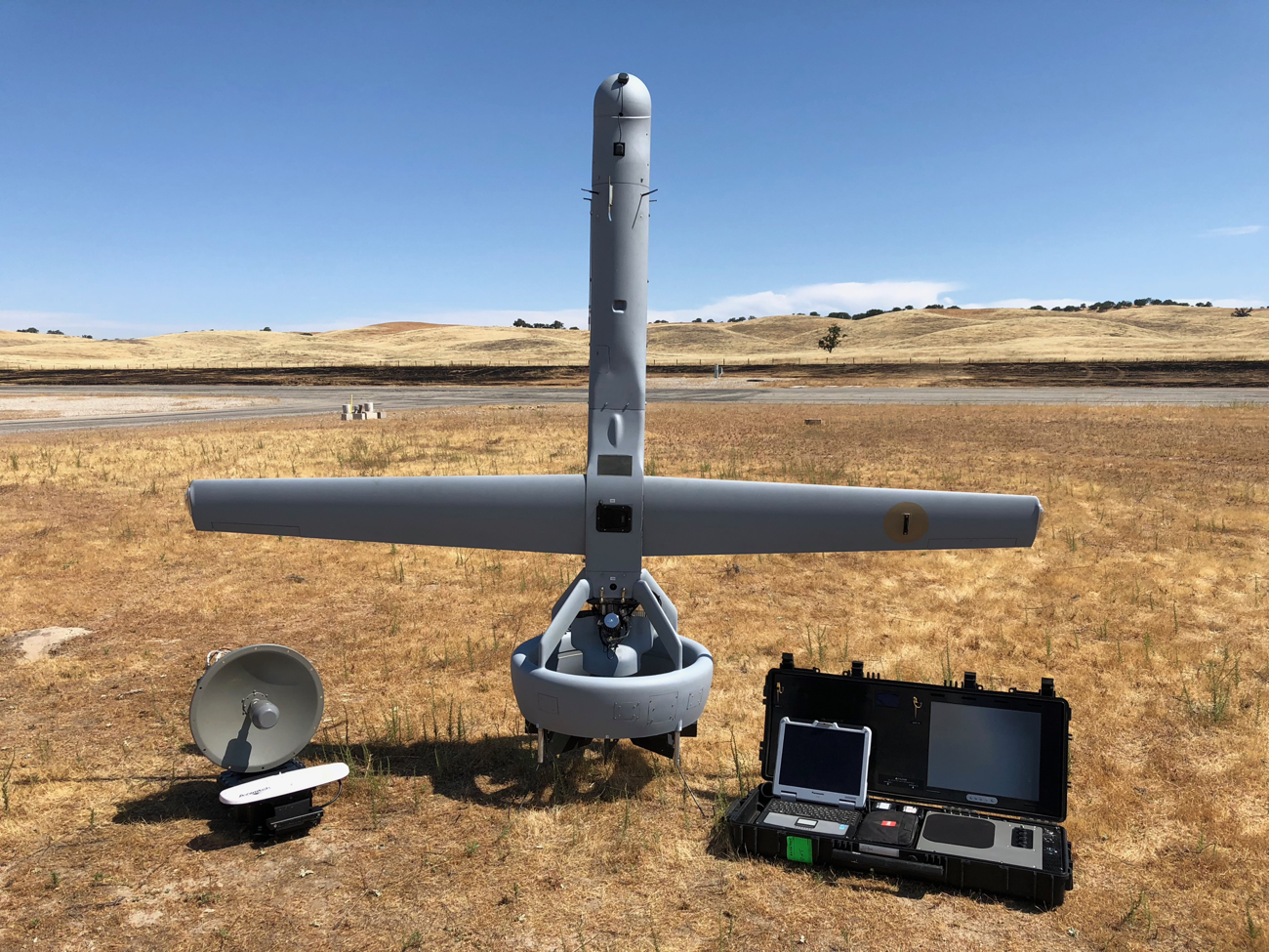 This tail-sitting drone is being pitched as a Shadow replacement, with ISR missions for now and possibly the full range of Shadow mission in the future. (MartinUAV)