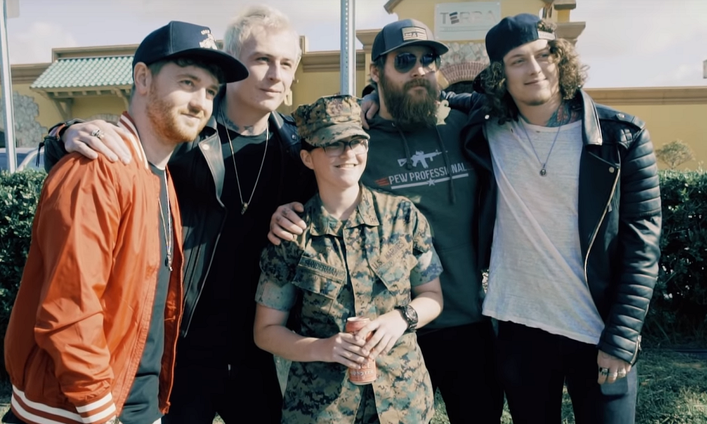 Oki-based Marines, sailors star in new music video from Asking Alexandria