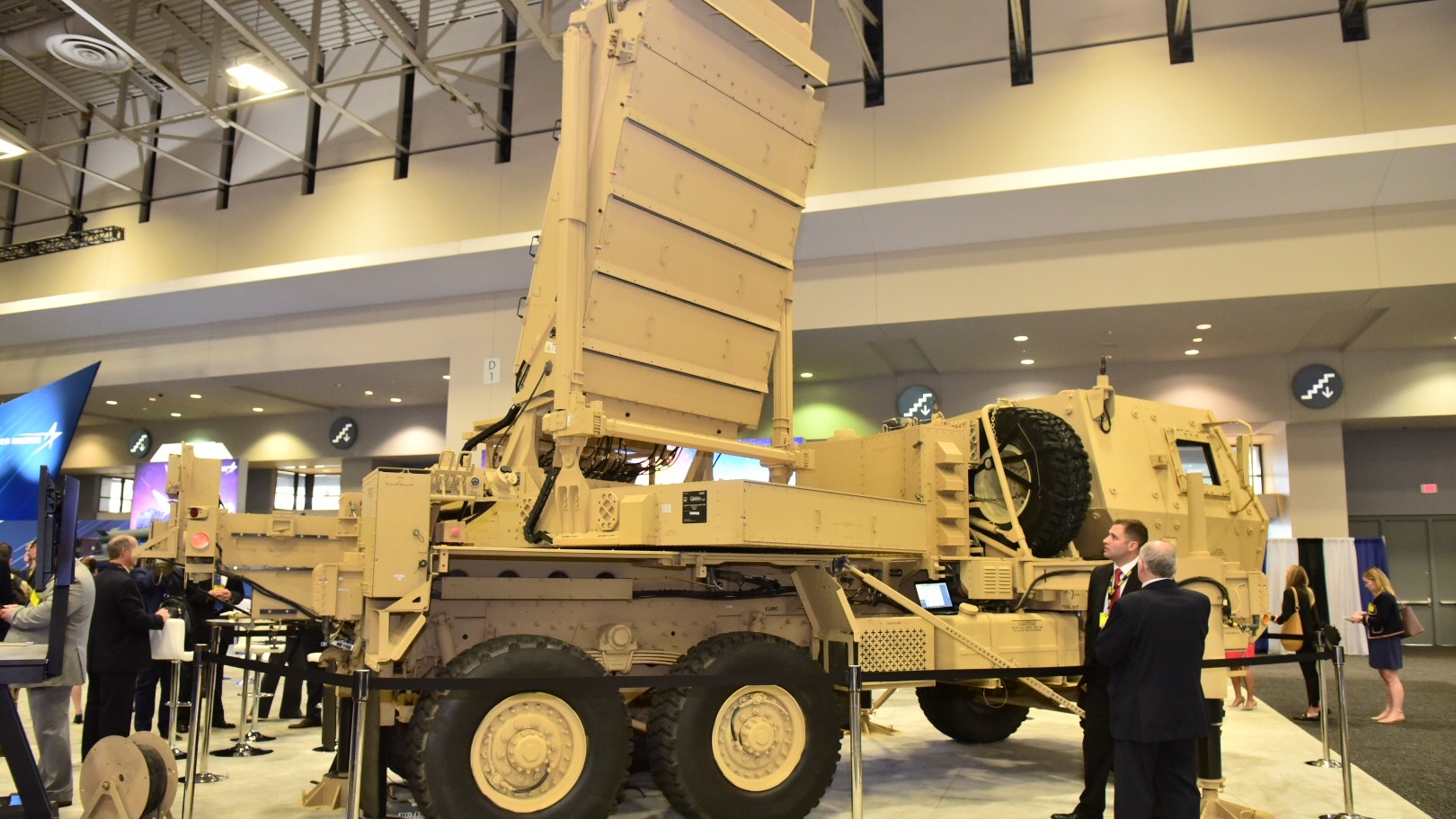 A Q53 radar system by Lockheed Martin on display at the 2018 annual meeting and exposition in Washington, DC. (Stephen Barrett/Special to Defense News & Army Times)