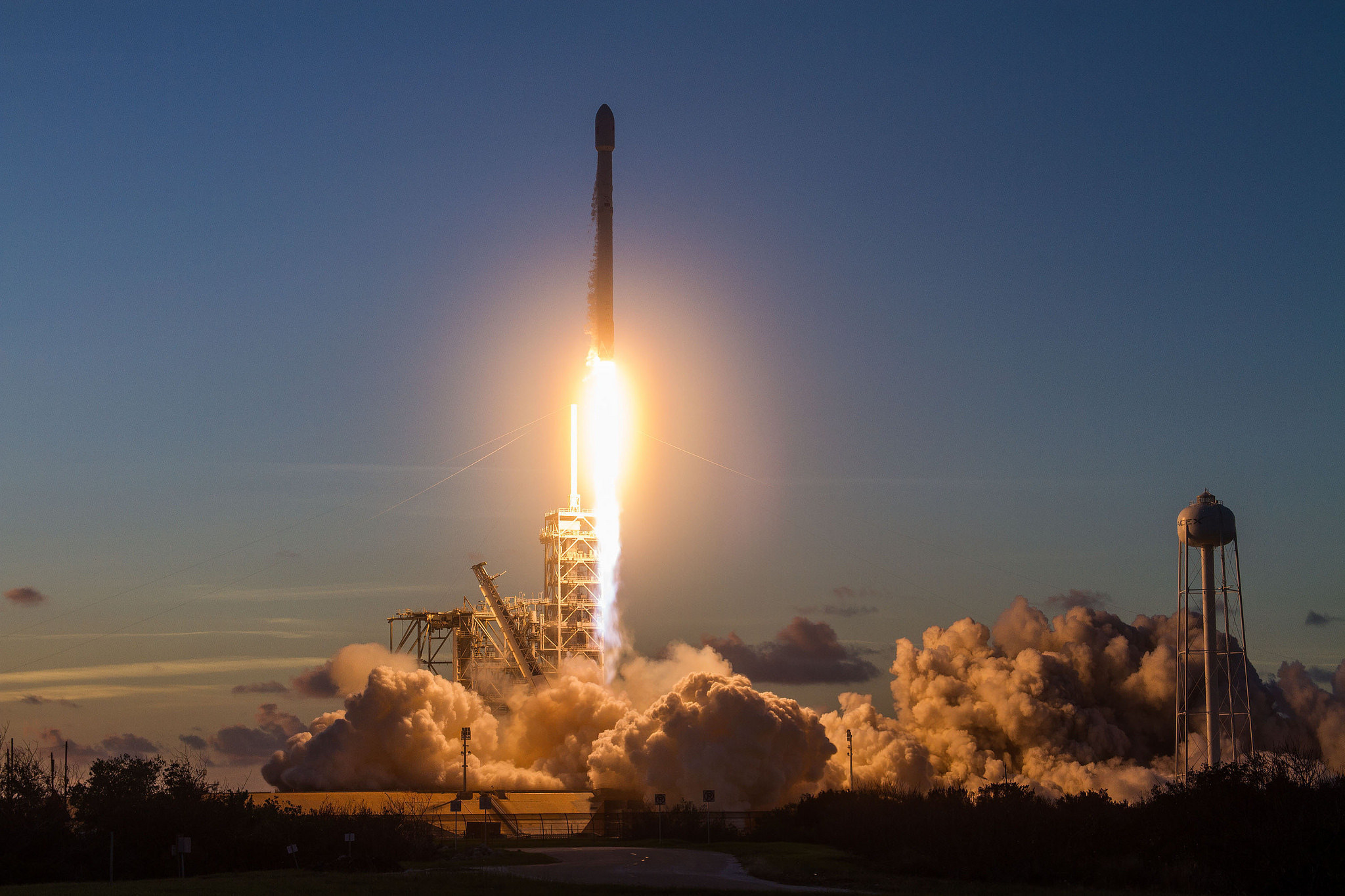 The U.S. Air Force's 45th Space Wing supported the SpaceX Falcon 9 launch of the Echostar 105/SES-11 communications satellite on Oct. 11, 2017. (SpaceX)