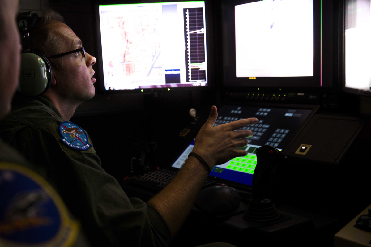 Drones, like the MQ-9 Reaper, collect hours and hours of detailed footage with every flight. Right now that footage is mostly parsed by humans, but the Pentagon has invested in programs like Project Maven to develop artificial intelligence tools that can assist in processing the footage. (Chase Cannon/Air Force)