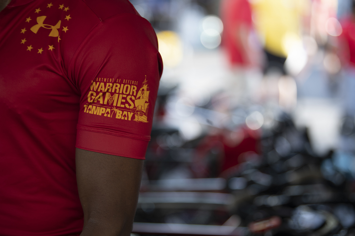 Marine Corps competitors get ready for the 2019 DoD Warrior Games cycling competition in Tampa, Fla., June 23. (Sgt. Annika Moody/Marine Corps)