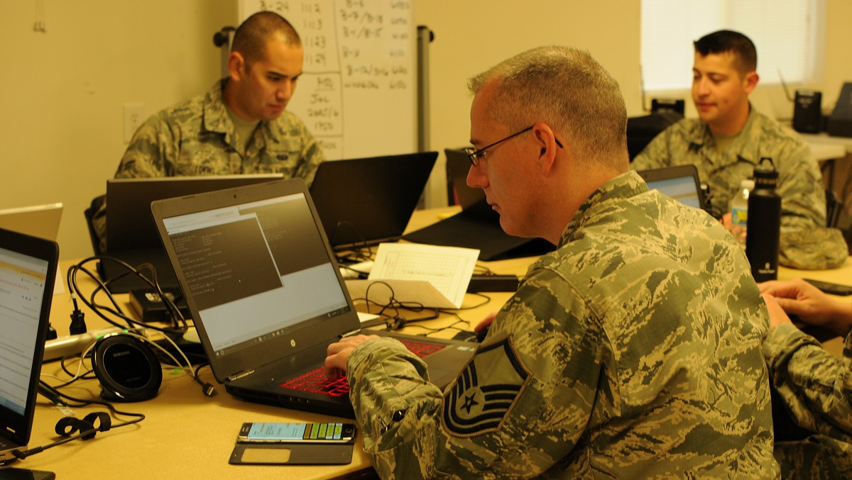 Current manpower models don't invest in the longevity of the cyber force. (Lt. Col. Wayde Minami/Air National Guard)