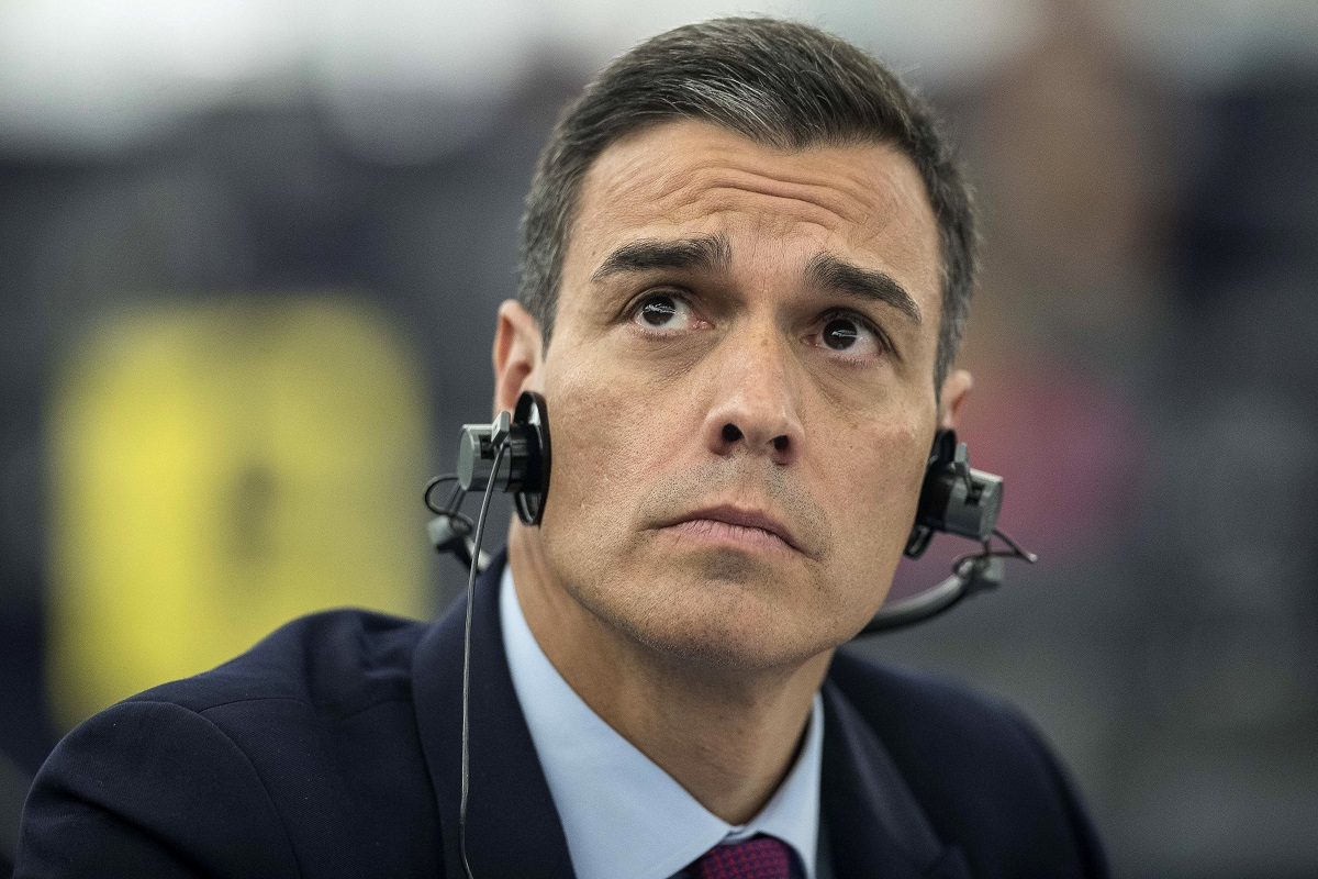 In this Jan.16, 2019, photo, Spanish Prime Minister Pedro Sanchez listens during a debate on the future of Europe at the European Parliament in Strasbourg, eastern France. During a visit to the national institute for cybersecurity in Leon in Spain on Tuesday April 9, 2019, Sanchez said that whoever wins the upcoming general election in Spain should launch a national cybersecurity plan to fight attempts to undermine democracy and citizens' trust in the political system. (Jean-Francois Badias/AP)