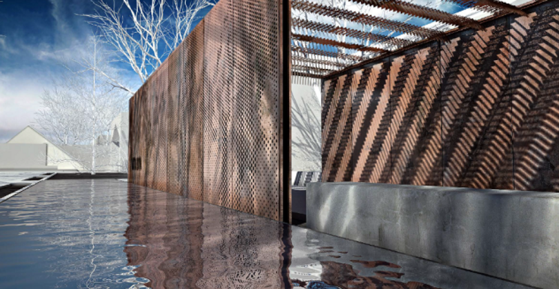 The new Battle Born Memorial, honoring the memory of Nevada service members killed in combat, was dedicated just before Veterans Day and was vandalized just days later. (Rendering courtesy Nevada Governor's Office)
