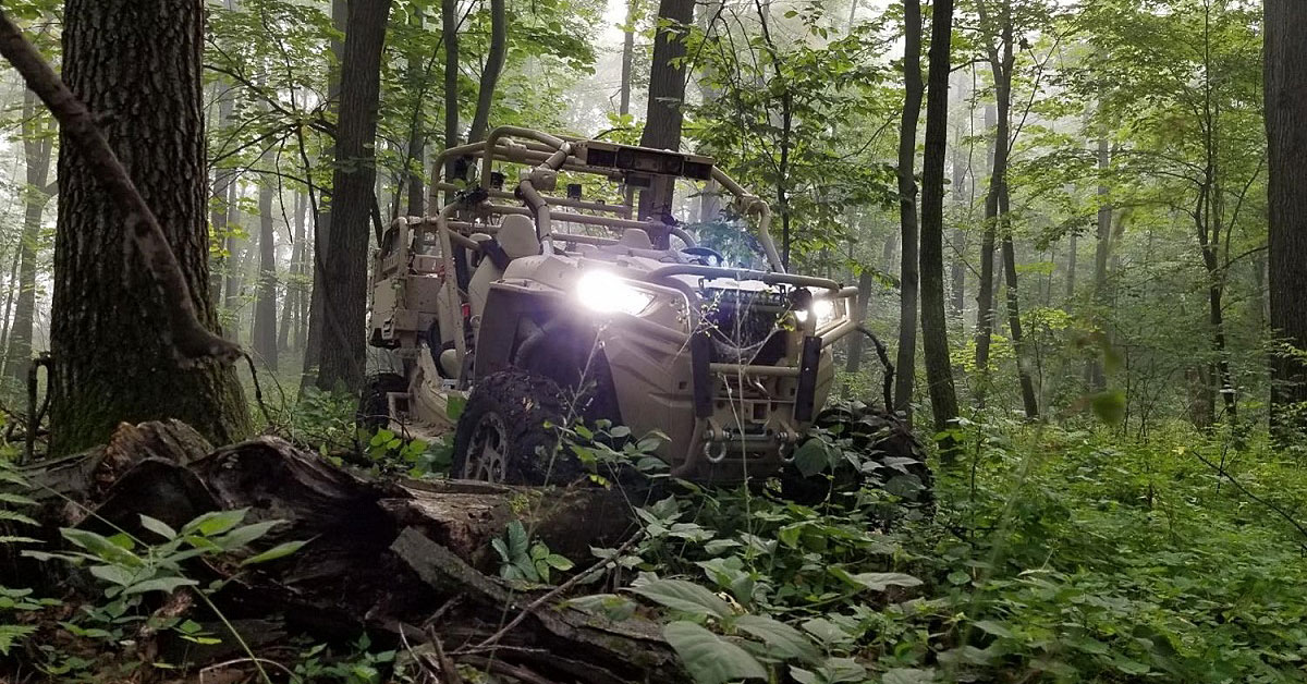 One of two prototype robotic vehicles set to hit the 101st Airborne and 10th Mountain divisions this summer is a driverless version of an All Terrain Vehicle currently in use by Marine reconnaissance teams, the MRZR X. (Polaris Industries)