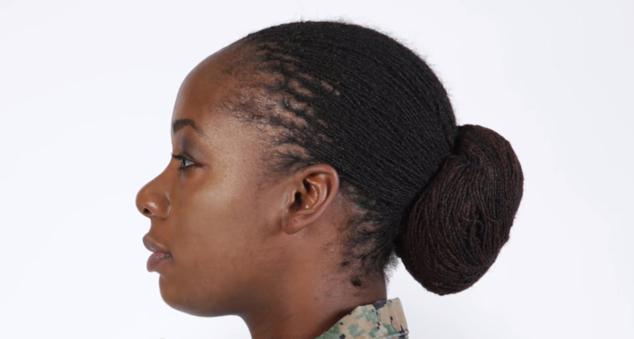 locks and twists authorized for female marines' hair