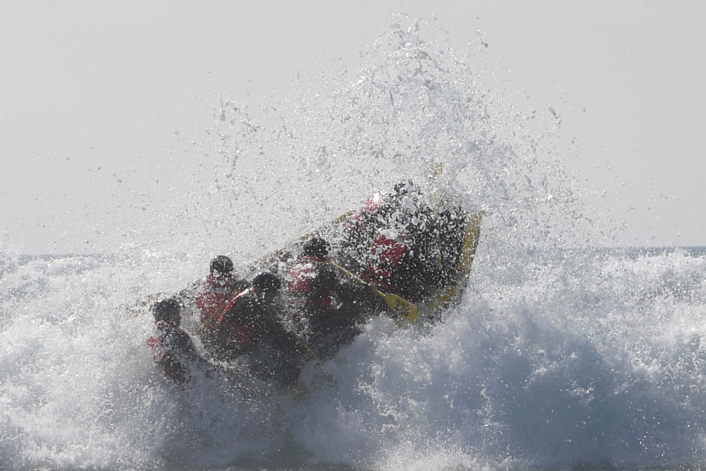 Basic Underwater Demolition/SEAL students participate in Surf Passage at Naval Amphibious Base Coronado. Surf Passage is one of many physically demanding evolutions that are a part of the first phase of SEAL training. (Mass Communication Specialist 1st Class Lynn F. Andrews/Navy)