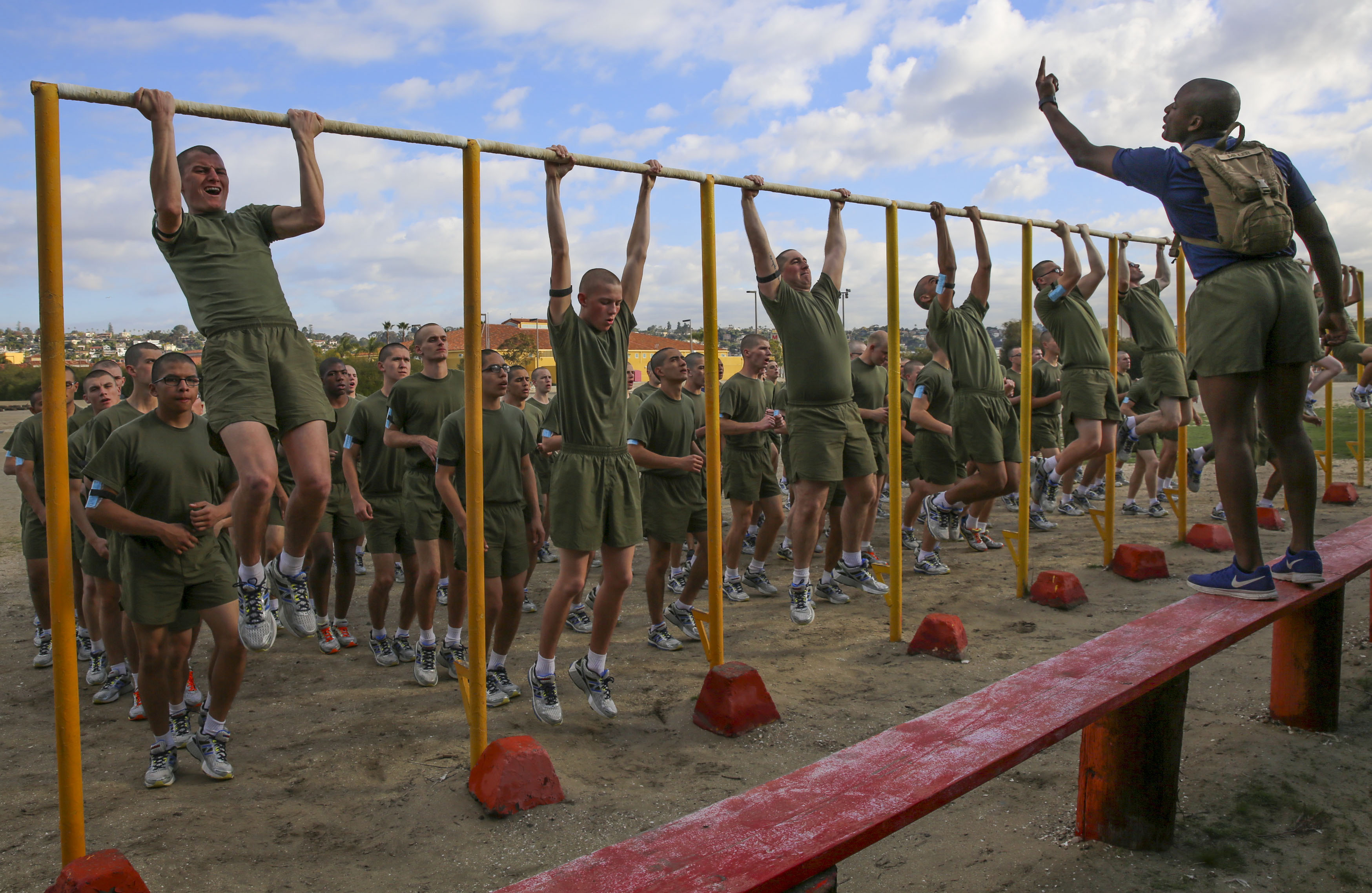 Men And Women At Marine Boot Camp Will Continue Training