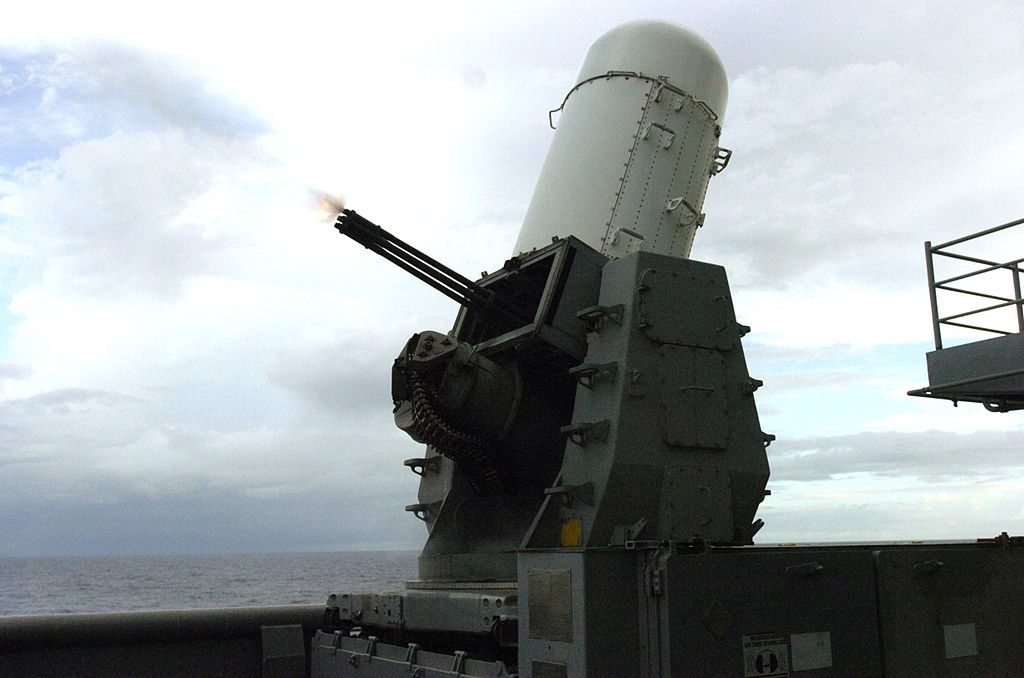 Nicknamed 'R2-D2,' the Phalanx weapon system is an autonomous anti-missile defense mounted on ships. (Jhoan M. Montolio, U.S. Navy)