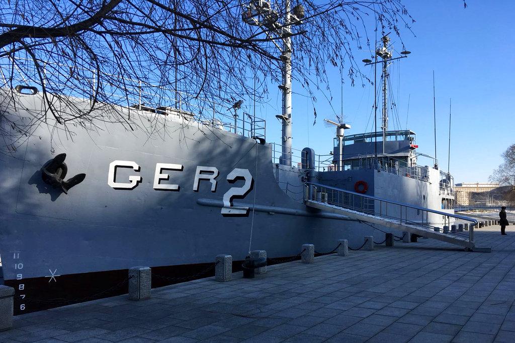 Captured USS Pueblo displayed as North Korean propaganda prize