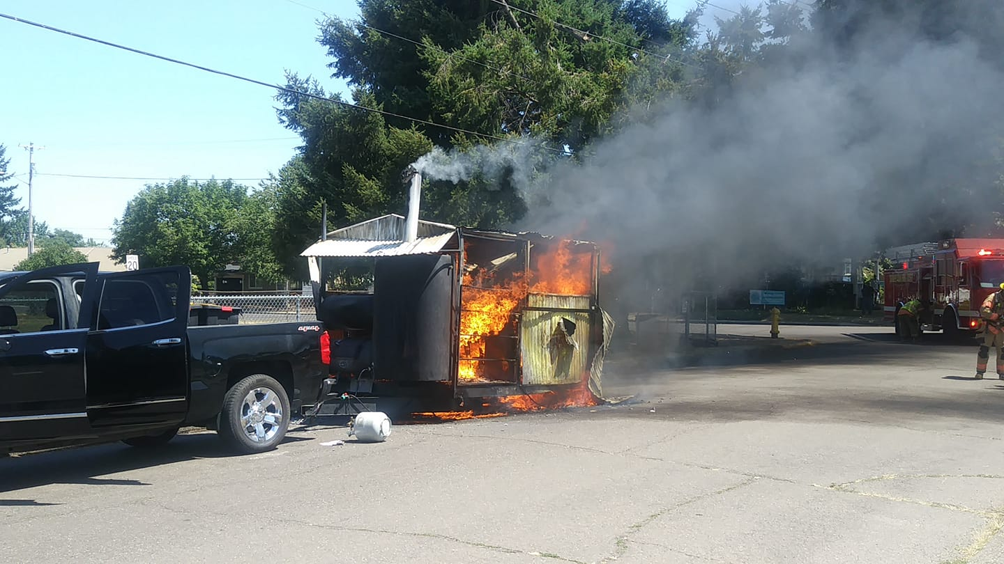 Army retiree is rebuilding BBQ business after unexplained fire.