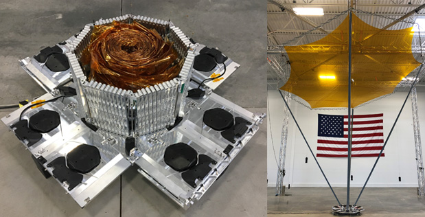 MMA Design successfully completes deployment testing of its innovative high-compaction ratio reflectarray antenna in its Louisville, Colorado facilities.