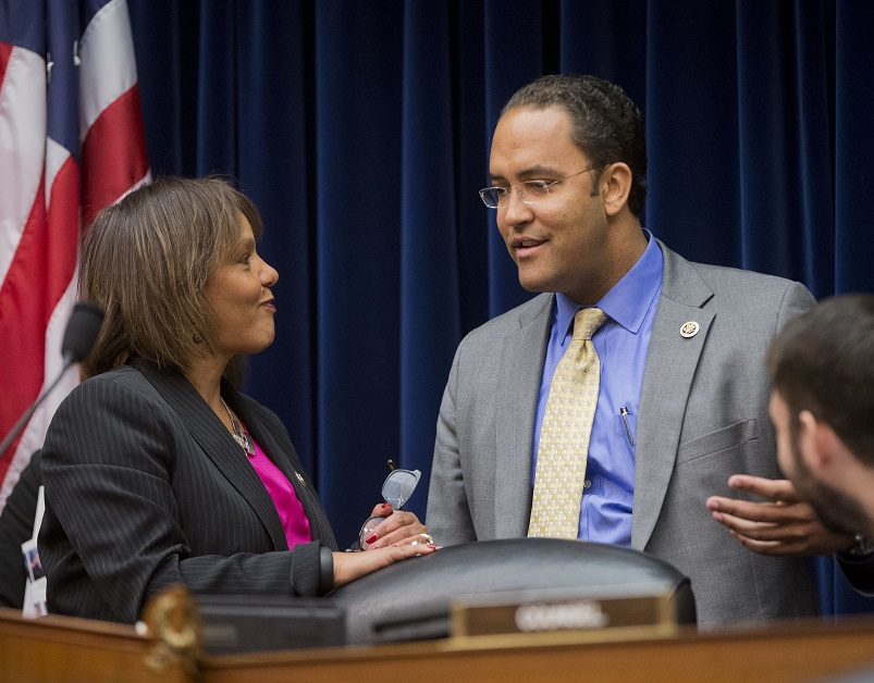 Reps. Will Hurd, R-Texas, and Robin Kelly, D-Ill., doubled down on passing legislation that would elevate IT modernization and cybersecurity in the federal government. (Pablo Martinez Monsivais/AP)