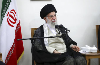 President Hassan Rouhani called the sanctions against Supreme Leader Ayatollah Ali Khamenei, pictured,