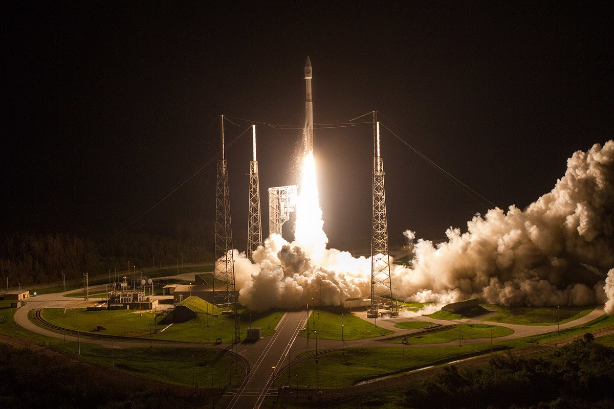 A United Launch Alliance Atlas V rocket carrying NROL-52 mission lifts off from Space Launch Complex-41 on Oct. 15, 2017. (United Launch Alliance)