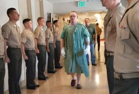 Marine injured in AAV fire gets promoted while in the hospital