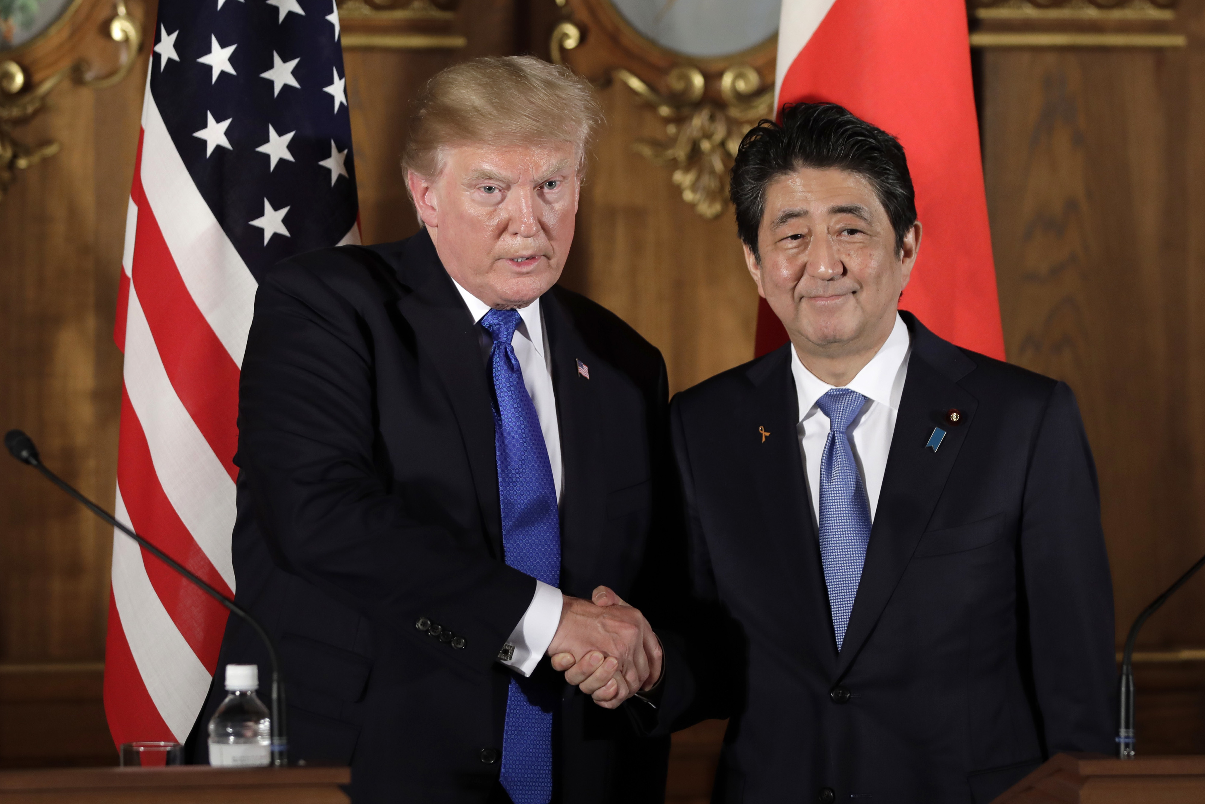 Trump says US will arm Japan to knock down Korea missiles