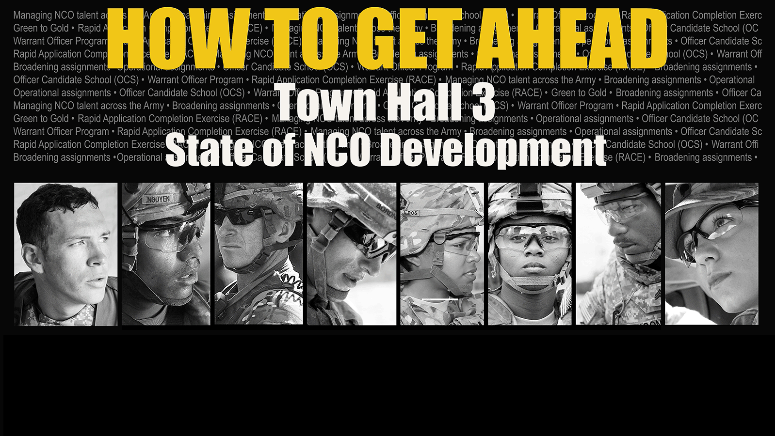 tune in thursday to learn how to advance your army career