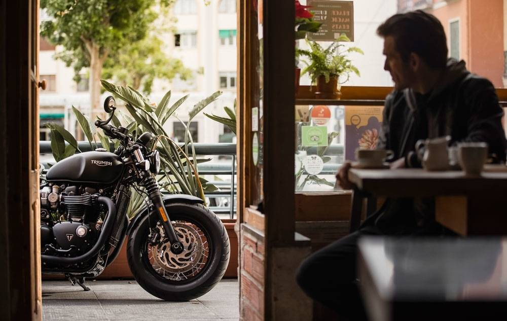 Regardless of how good the coffee might be, you'll soon be looking back at the bike. Trust us. (Triumph Motorcycles)