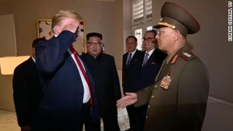 Trump on video saluting North Korean general at summit