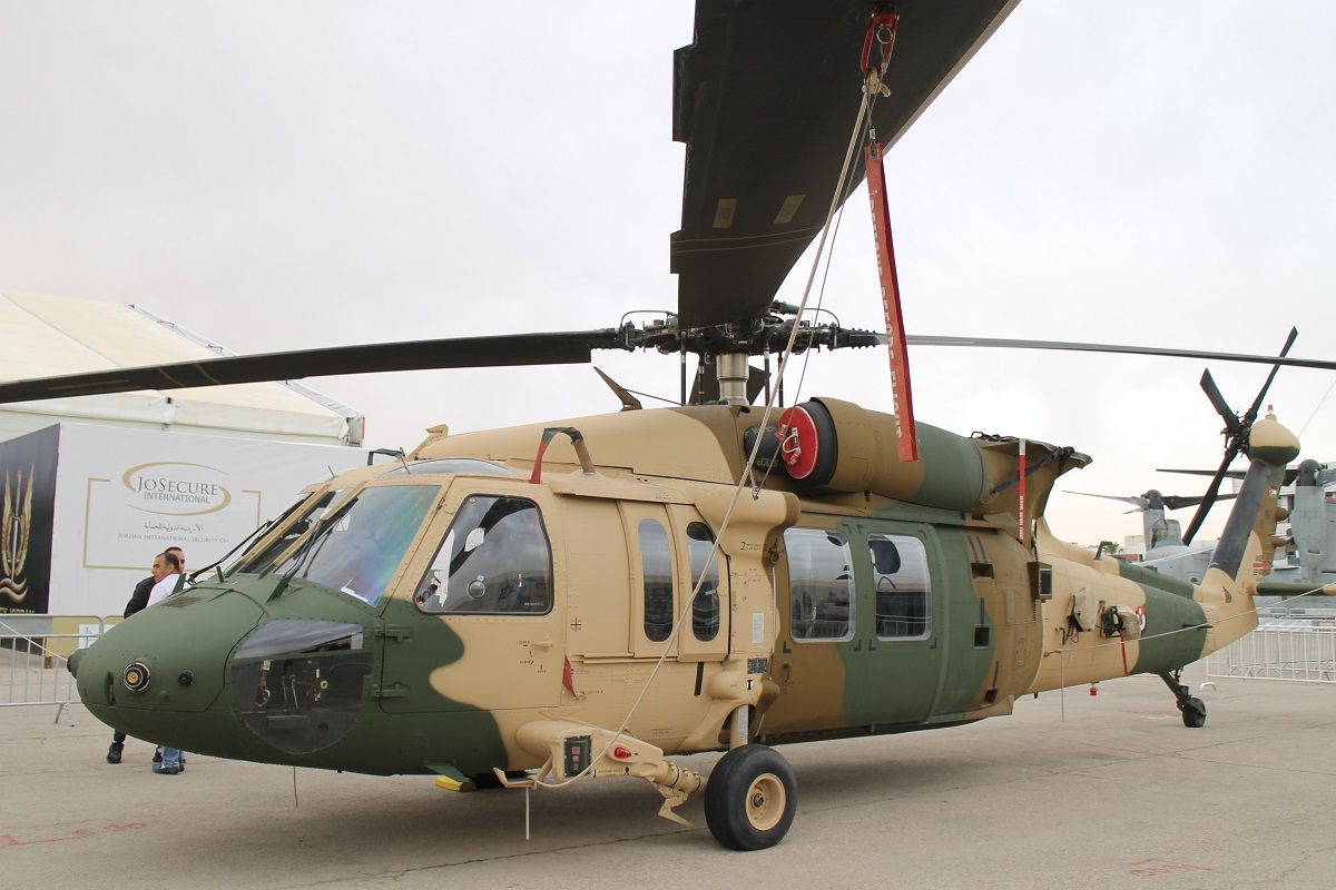 Jordan not only showed off its L-model Black Hawks but also brought a newer Mike-model to SOFEX. (Jen Judson/Staff)