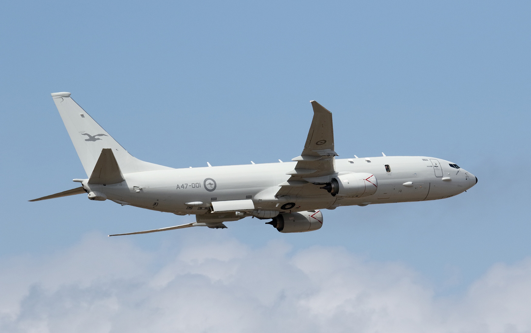 This Royal Australian Air Force P-8A Poseidon multimission aircraft was manufactured by Boeing. Australia has signed for 12 P-8As, which are being delivered, and has expressed a requirement for three more aircraft. (Mike Yeo/Staff)