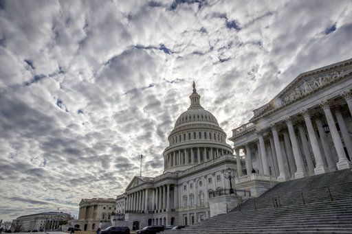 Clouds cover the sky over Washington, D.C., on Sunday, the second day of the federal shutdown (J. Scott Applewhite/AP)
