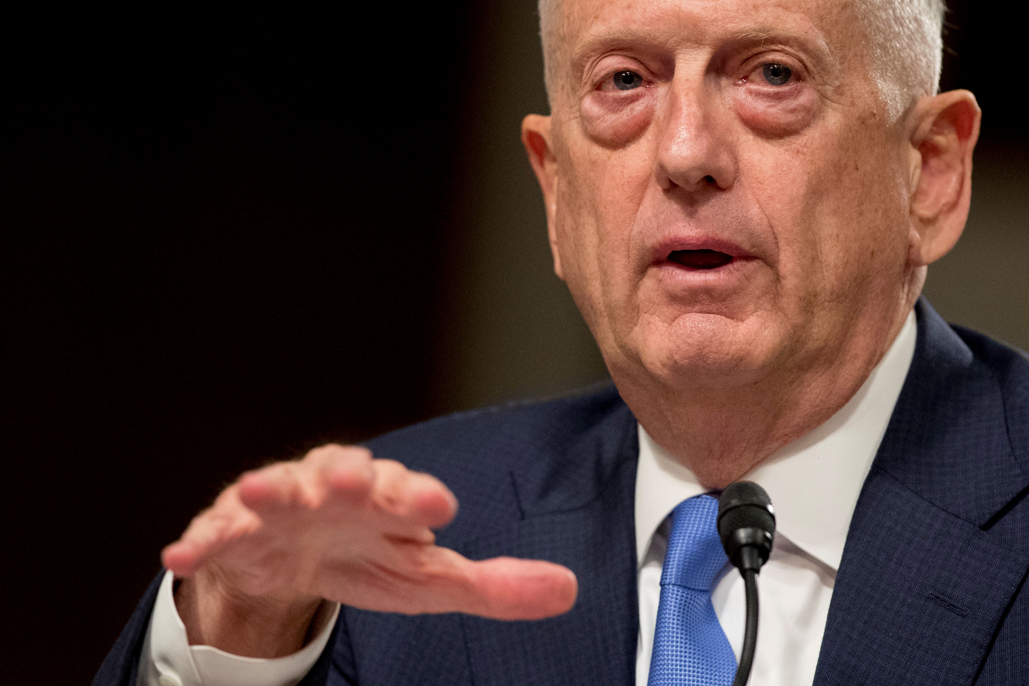 Defense Secretary Jim Mattis challenged reports that U.S. forces left a service member behind. (AP Photo/Andrew Harnik)