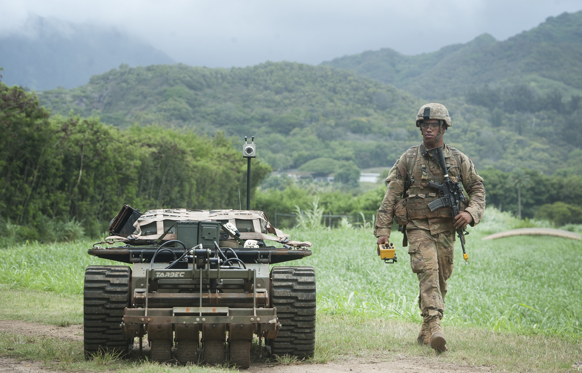 The Army is working on combat-deployable robots