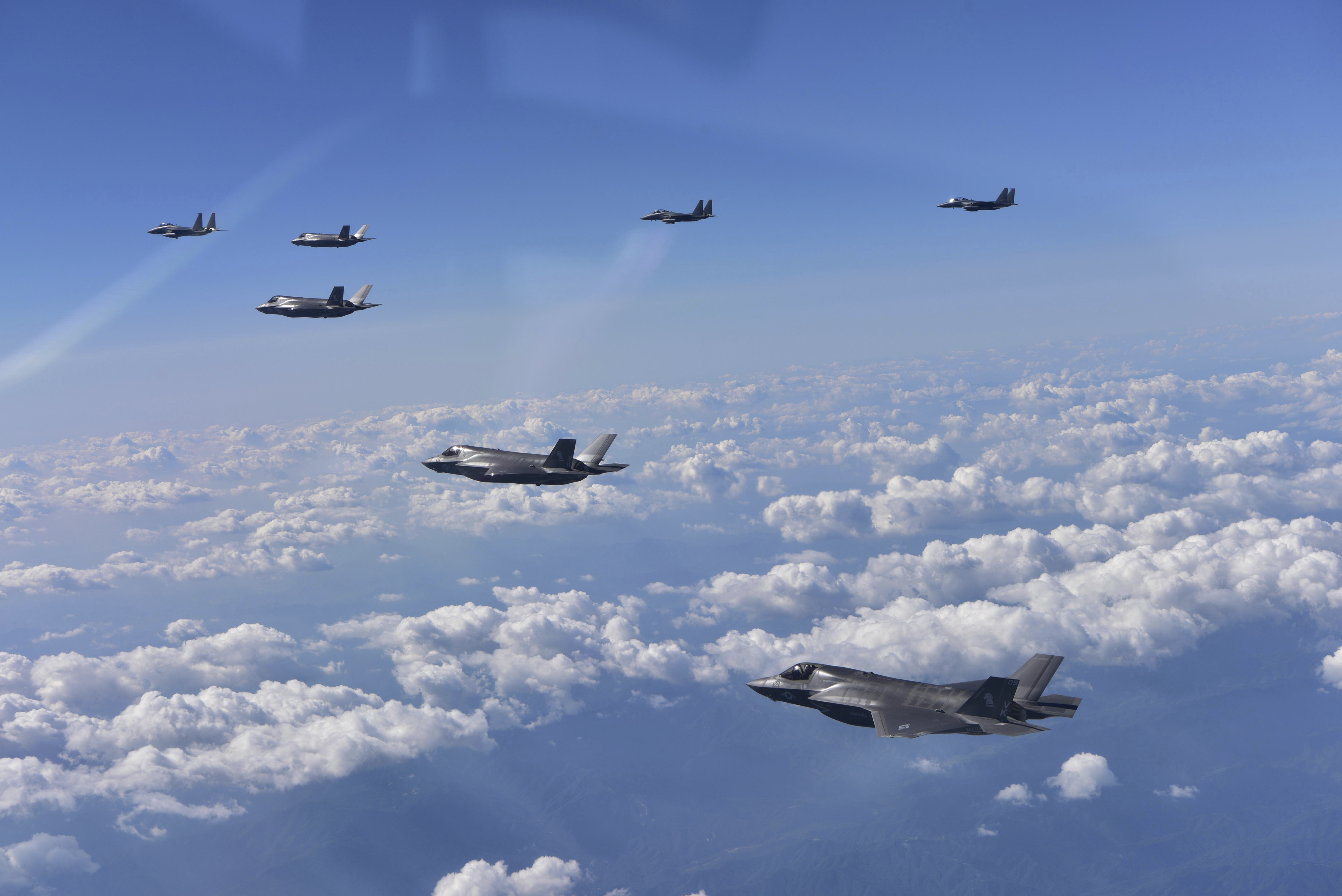 As Korean tensions rise, stealth jets drill alongside allies
