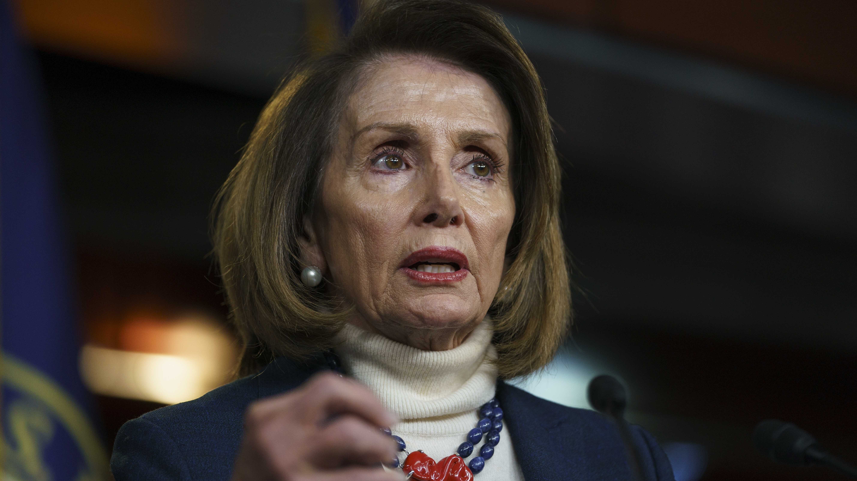 House Speaker Nancy Pelosi of Calif., speaks during a news conference on Capitol Hill in Washington, Thursday, Jan. 17, 2019. (Carolyn Kaster/AP)