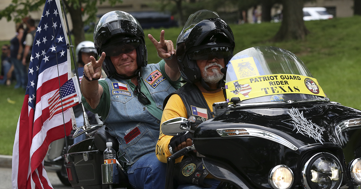 Riders in the Rolling Thunder Memorial Day motorcycle procession ride through the capital in Washington, D.C. on Sunday, May 27, as part of the annual remembrance festivities in the city. (Ben Murray / Military Times)