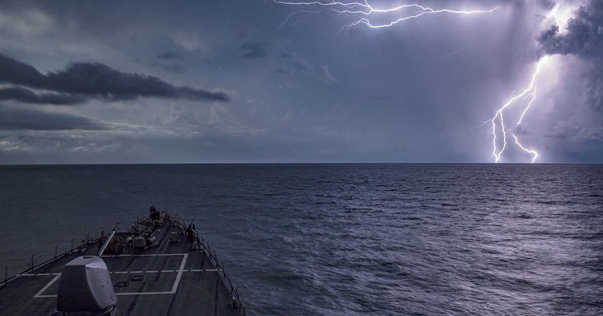 The Arleigh Burke-class guided-missile destroyer USS Carney (DDG 64) transits the Black Sea, Aug. 22, 2018. Carney, forward-deployed to Rota, Spain, is on its fifth patrol in the U.S. 6th Fleet area of operations in support of regional allies and partners as well as U.S. national security interests in Europe and Africa. (MC1 Ryan U. Kledzik/Navy)