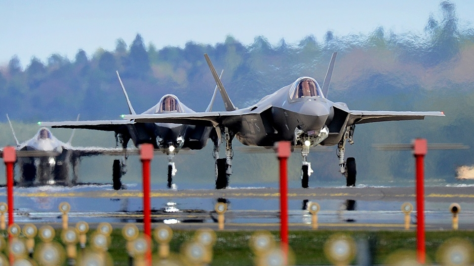High-end procurement, potentially such as the F-35A, could benefit if the defense budget increases. But betting on the increase to last long-term may blow up in the Pentagon's face. (Tech. Sgt. Matthew Plew/Air Force)