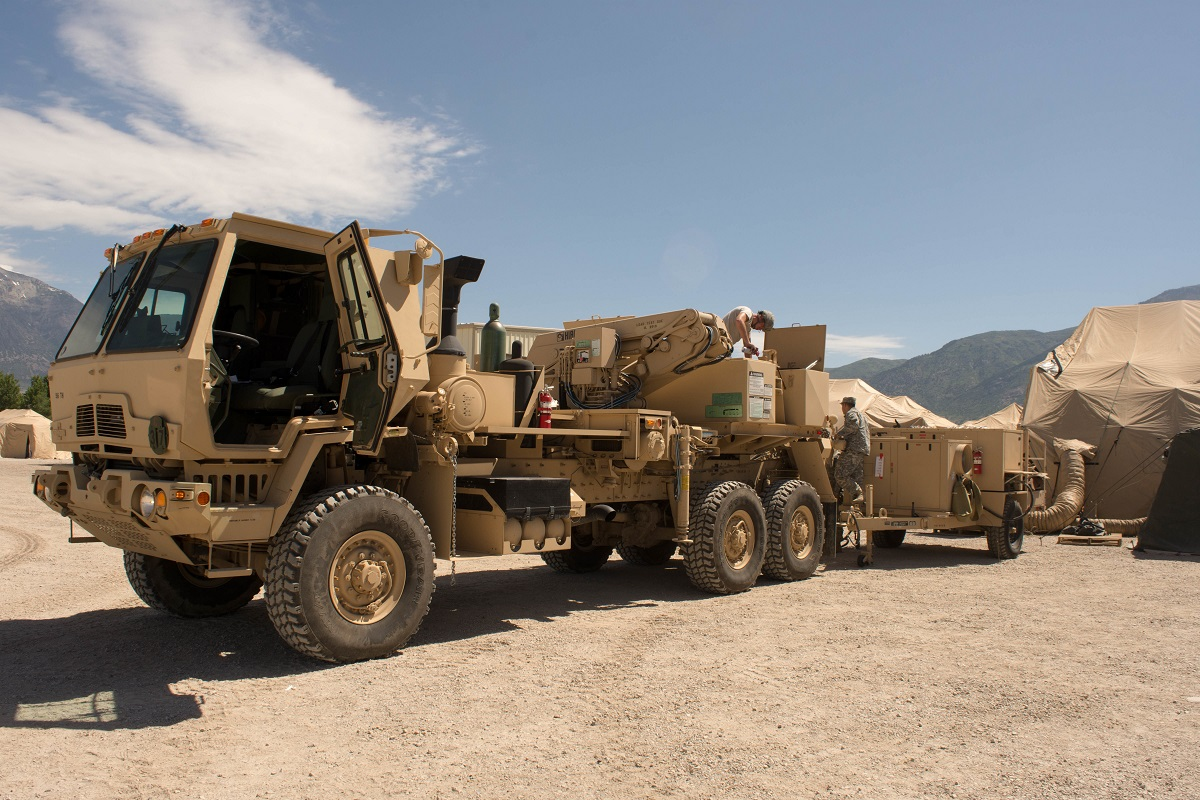 Oshkosh Defense won a contract to produce the next-generation variant of the U.S. Army's Family of Tactical Wheeled Vehicles. Here, an FMTV 5-ton wrecker participates in Operation Sustain Fury in Ogden, Utah, on June 10, 2017. (Sgt. Kayla Benson/U.S. Army)