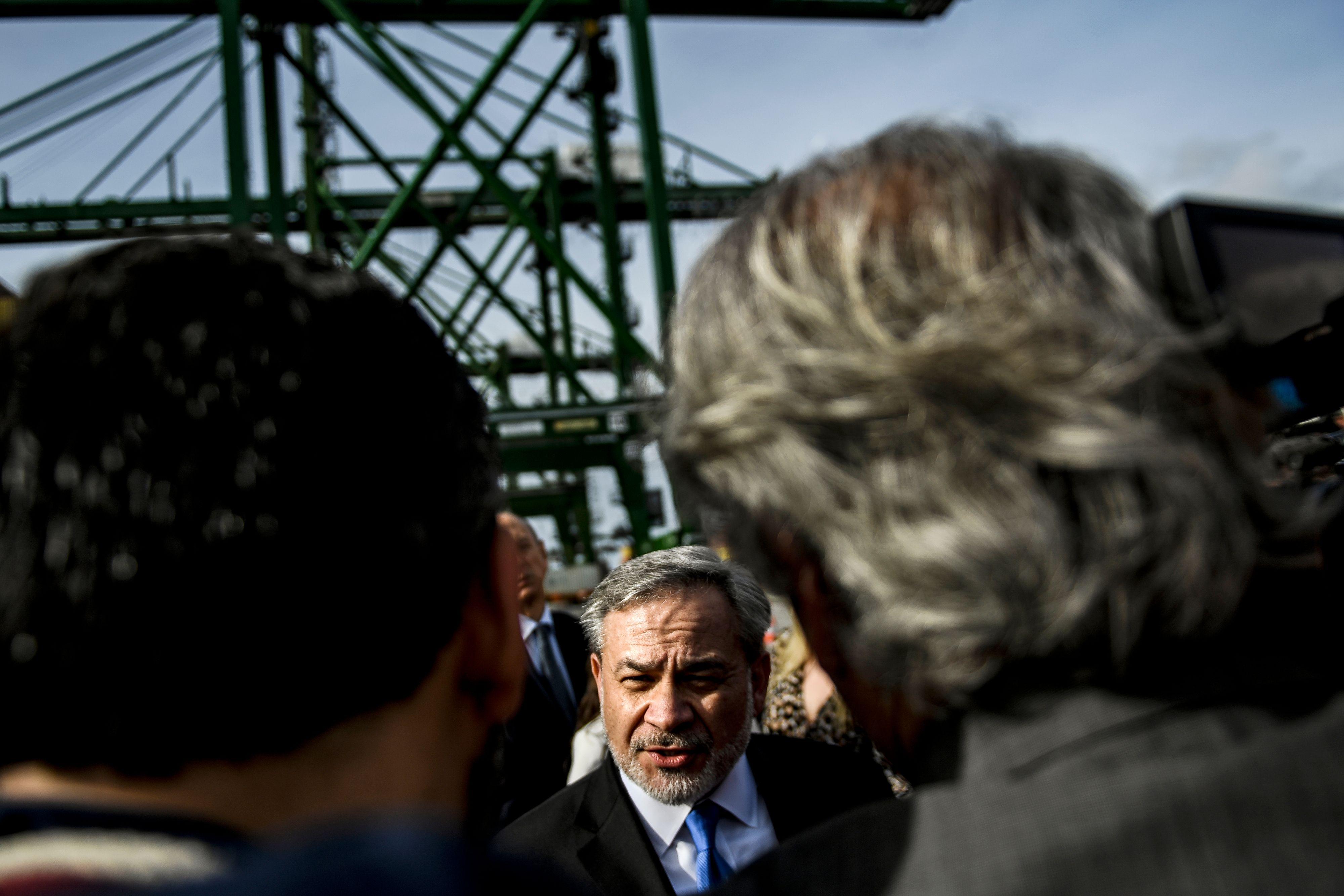 U.S. Energy Secretary Dan Brouillette visits a liquefied natural gas terminal Feb. 12, 2020. (Patricia de Melo Moreira/AFP via Getty Images)