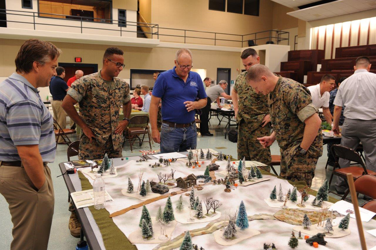 A wide variety of experts in warfighting participated in the Annual Warfighting Day including contractors, Marines and civilian Marines. (Chavonne Ford)