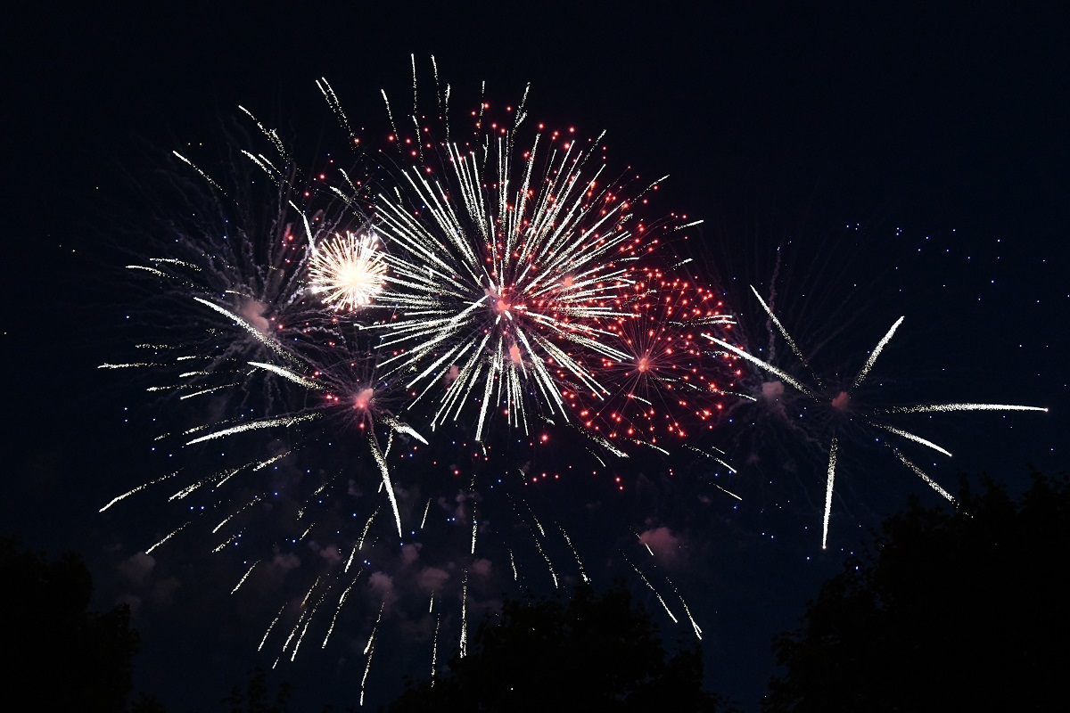 Fireworks at the U.S. Embassy in Berlin, Germany for the 4th of July 2018. (U.S. Embassy in Berlin)
