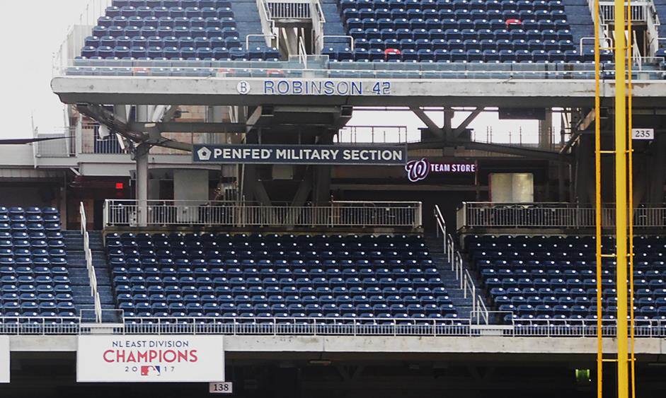 Complimentary seats are now available to all Washington Nationals home games in the PenFed Military Section. (PenFed)