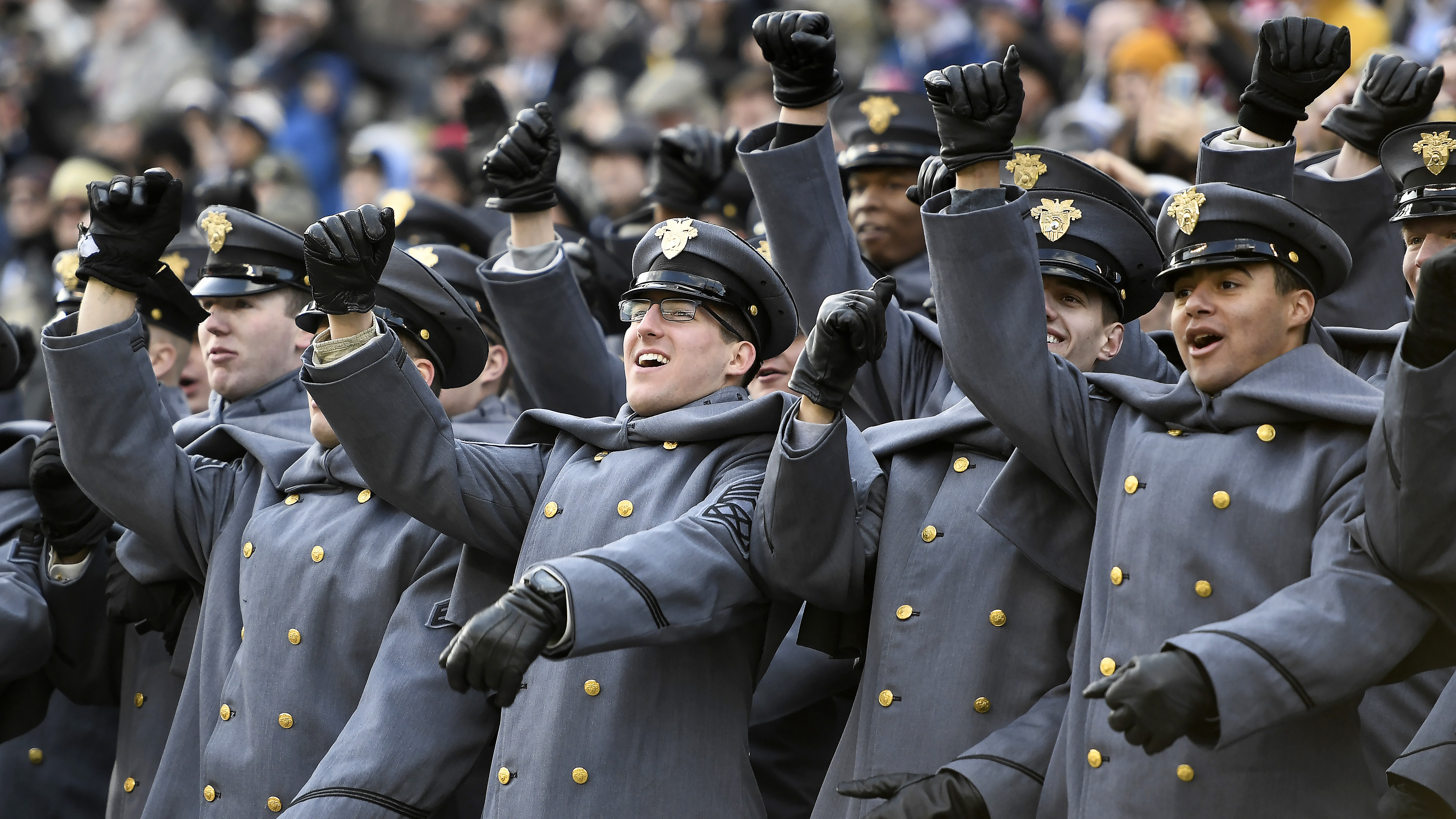 Army Cadets cheer before the game against Navy Midshipmen at Lincoln Financial Field on December 08, 2018 in Philadelphia, Pennsylvania. (Photo by Sarah Stier/Getty Images)