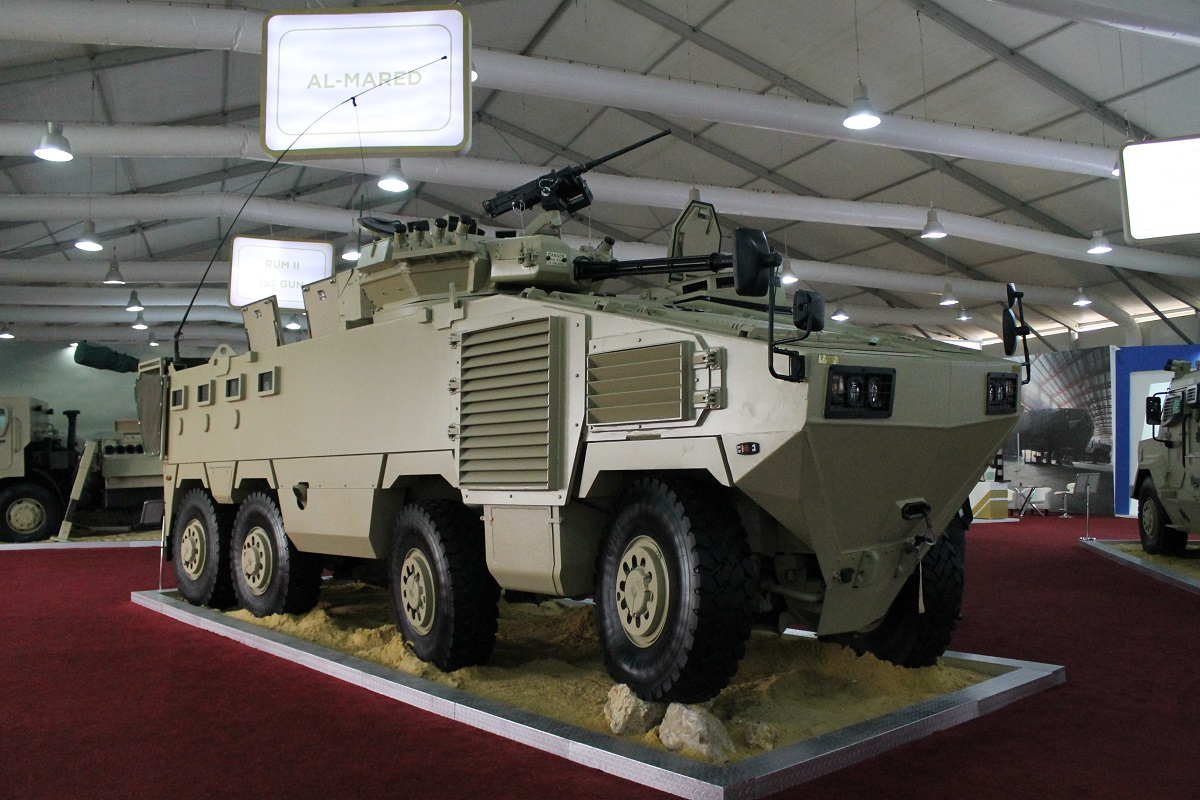 Produced through the King Abdullah II Design and Development Bureau, the Al-Mared is the largest armored personnel carrier in Jordan. (Jen Judson/Staff)