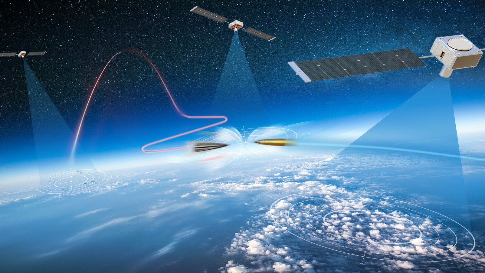 Congress wants the Missile Defense Agency to take primary responsibility for developing and deploying the Hypersonic and Ballistic Tracking Space Sensor. (Concept art from Northrop Grumman)
