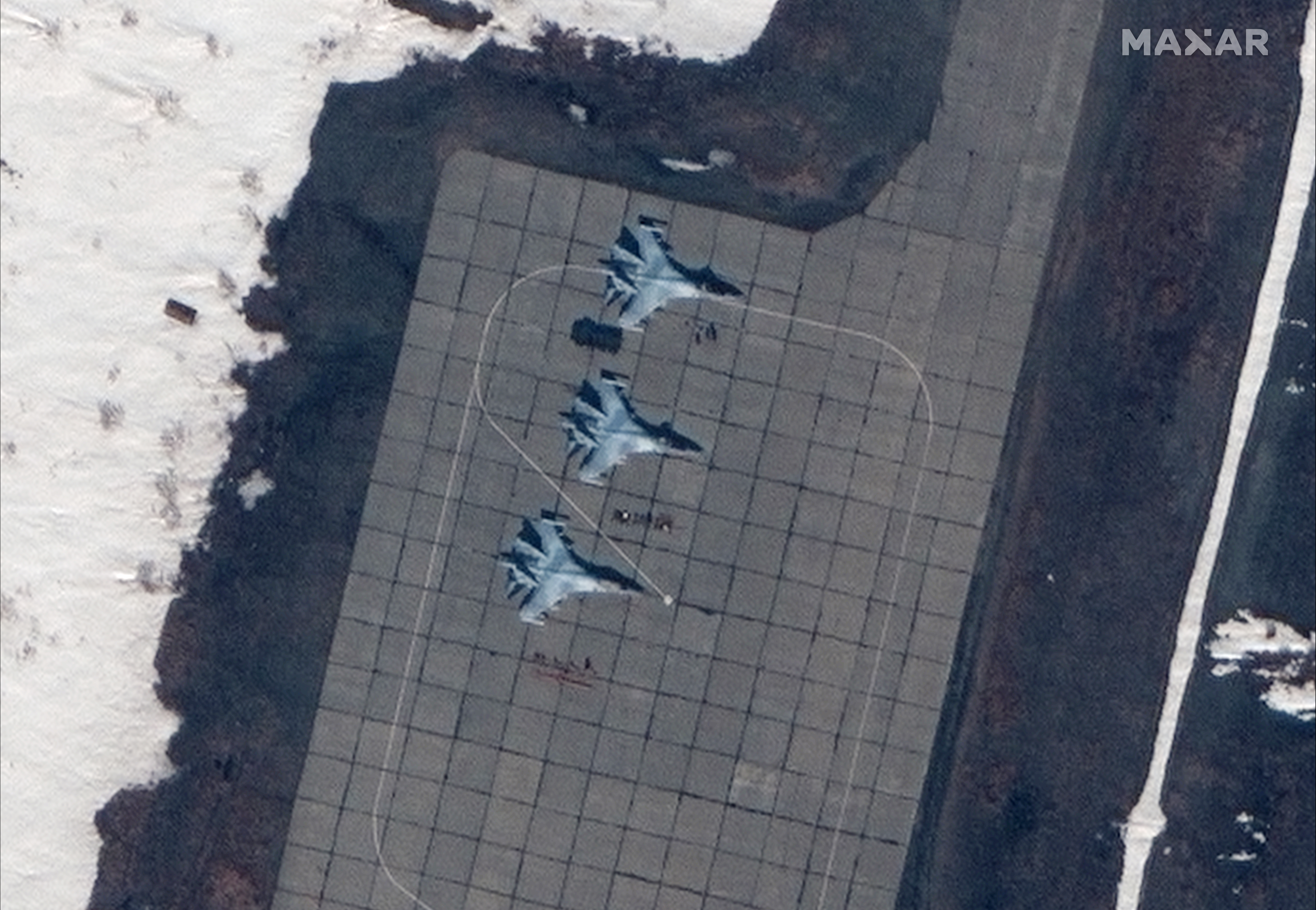 Satellite imagery of Anadyr Airfield, also known as Ugolny Airport, on May 17. (Satellite image ©2019 Maxar Technologies)
