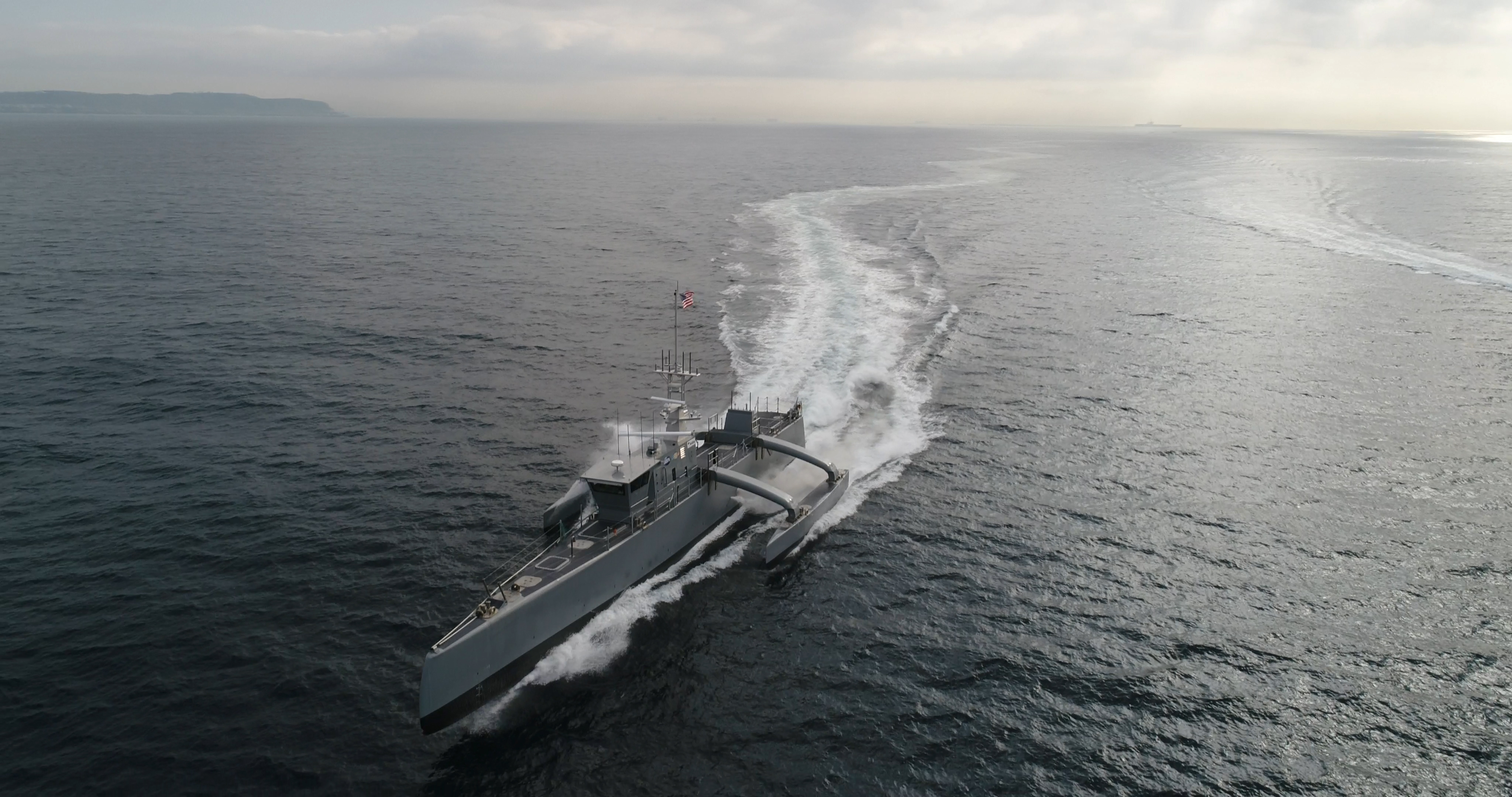 The DARPA-developed Sea Hunter is among the Navy's most prominent and promising autonomous systems. (U.S. Defense Advanced Research Projects Agency)