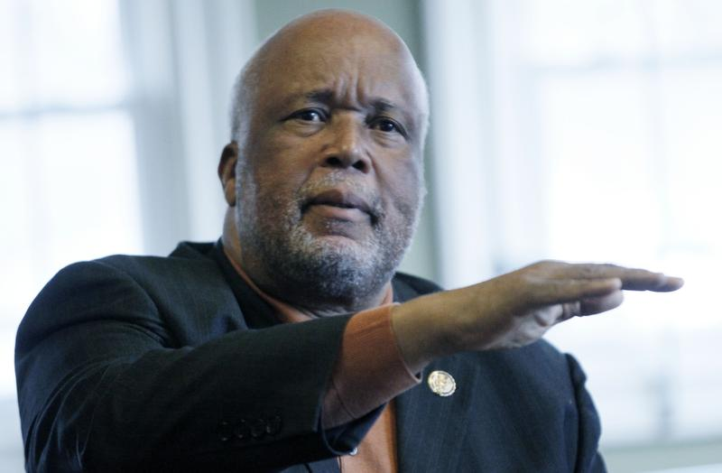 In this Feb. 24, 2012 photograph, Democrat U.S. Rep. Bennie Thompson of the state's 2nd Congressional District speaks about issues in his district. Thompson is concerned about the hiring of cyber professionals at the Department of Homeland Security. (AP Photo/Rogelio V. Solis)