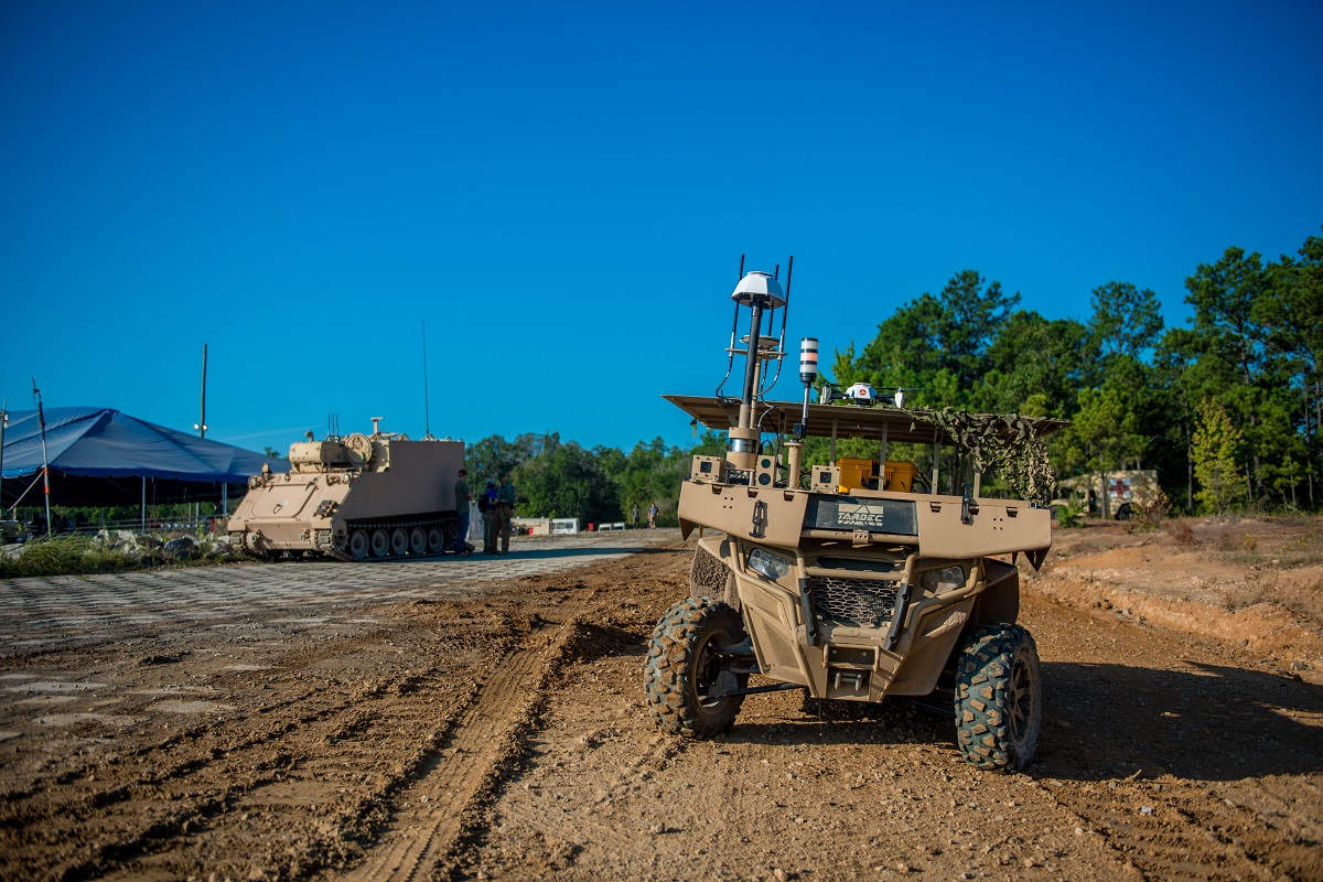 Maneuver Robotics and Autonomous Systems live-fire demonstration at Fort Benning, Ga. (Patrick Albright/Army )