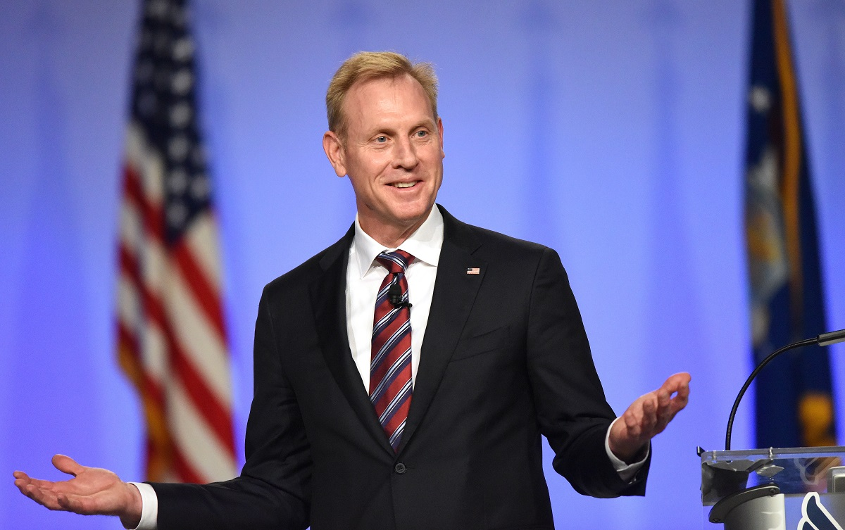 U.S. Deputy Secretary of Defense Patrick M. Shanahan talks during the Air Force Association's Air, Space and Cyber Conference in National Harbor, Md., Sept. 19, 2018. (Tech Sgt. Anthony Nelson Jr./USAF)